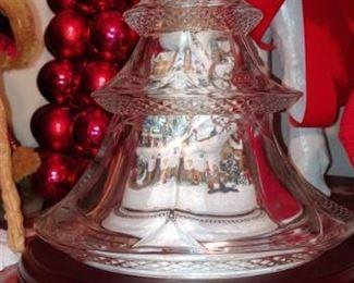 Very unusual porcelain tree inside glass