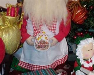 Cooking chef Santa