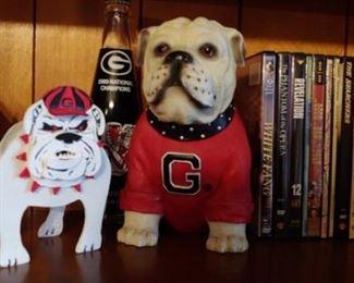 Official Georgia Bulldog figurine on the right