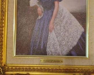 Oil painting of Scarlett