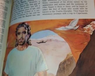 Vintage 1961 family Bible with illustrations