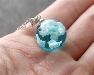 Ball of cloud pendant necklace