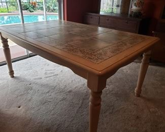 This is a nice farm tile top table for the dining room