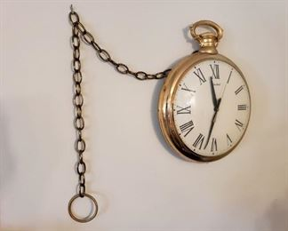 1958 United Large Gold Pocket Watch Wall Clock