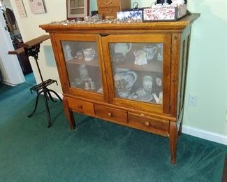 Vintage Pine screened door cabinet