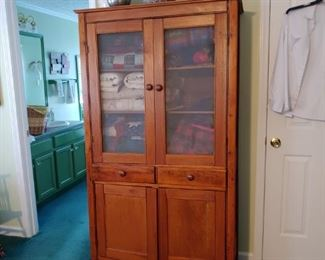 Oak screen Pine cabinet five star