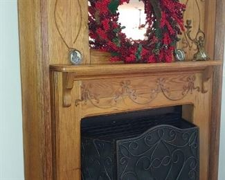Oak mantel stays with the house