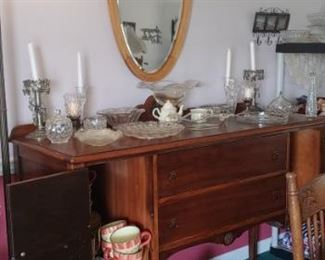 Antique Queen Anne sideboard