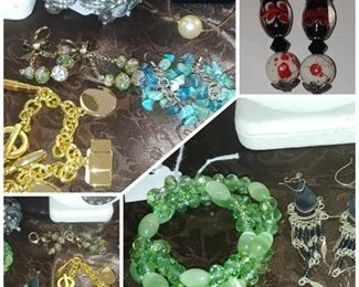 Change collection of costume jewelry