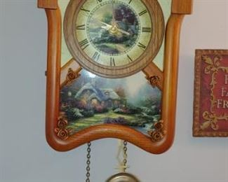 Thomas Kinkade clock