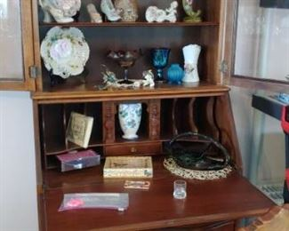 Beautiful antique secretary with ball and claw feet