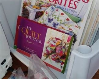 Amazing craft room with quilting items and more