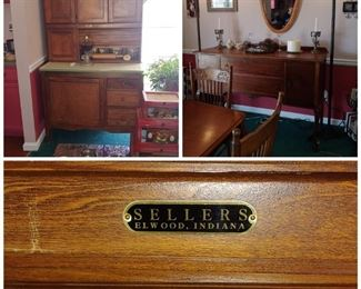 Oak sellers Hoosier cabinet