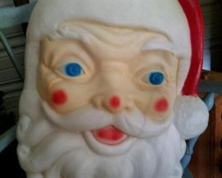 Large vintage light up Santa head