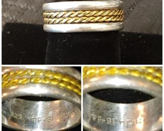 Beautiful vintage sterling silver men's band