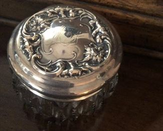 Sterling silver vanity boxes