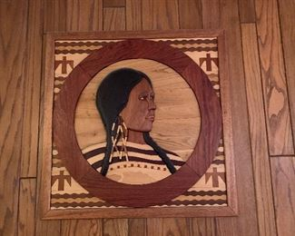 Hand crafted wood plaque