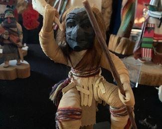 Iroquois false face society corn husk doll