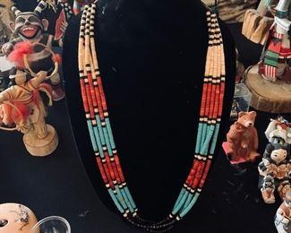 Santa Domingo necklace, 5 strands!