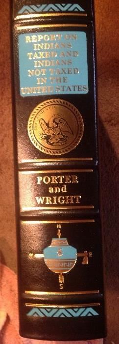 Easton press, Report on Indians taxed and not taxed...