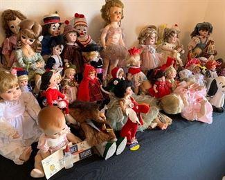 Many Madame Alexander dolls