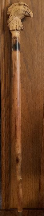 Hand carved walking stick from Germany