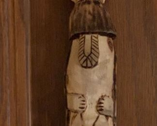 Native American carved walking stick
