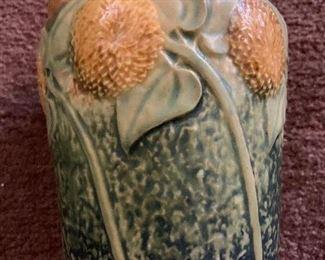 Sunflower pattern pot by Roseville
