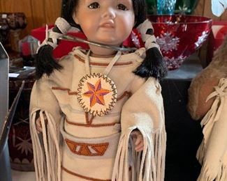 Native American doll notice the handmade dress and accessories