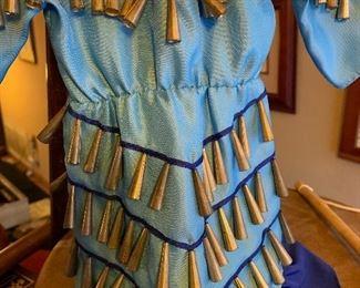 Hand made jingle dress for a doll