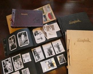 Scrapbooks and old photo albums