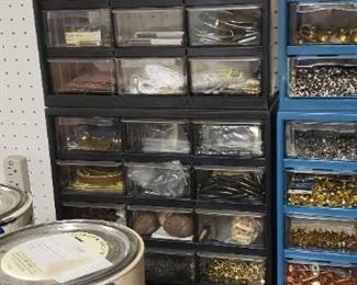 1000's of leather grommets, buckles, etc