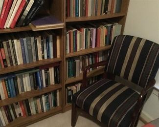 one of a pair of chairs, plus books