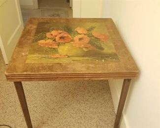 Wood Card Table