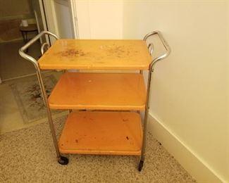 Vintage Metal Utility Cart