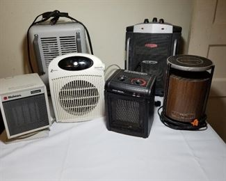 Six Electric Heaters