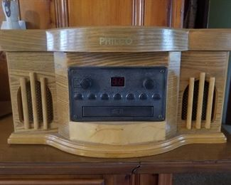 Philco Turntable, CD, and Cassette Player