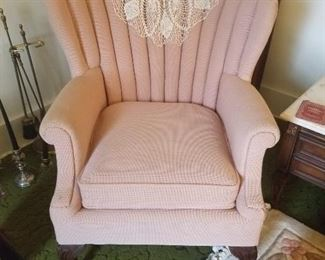 vintage Shell Back Arm chair