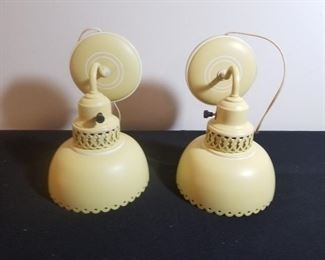 Two Vintage Scounce Lamps