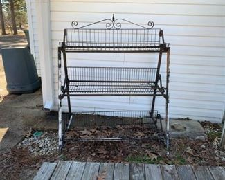 Wrought Iron Three Tier Plant Stand