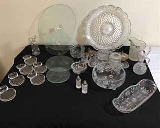 Assortment of Crystal/Glass Items