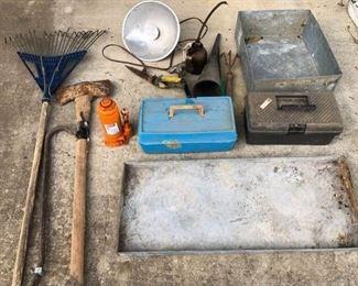 Assortment of Farm Tools, etc.