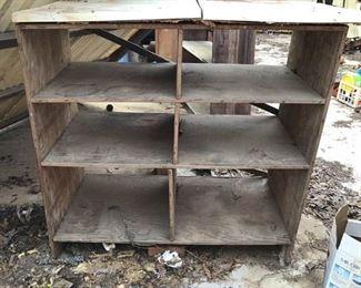 Outdoor Wood Shelves