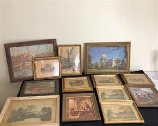 Large Assortment of Vintage Framed Photos