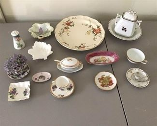 Assortment Porcelain Plates and Cups