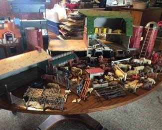 Vintage Farm Toys and Barns