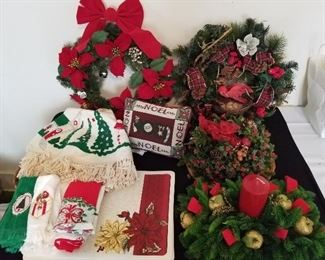 Assortment of Christmas Wreaths and Much More