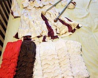 Majorette Outfit with Batons and Bloomers