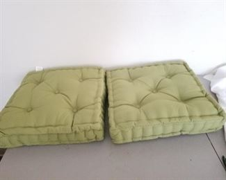 Two Lime Green Cushions