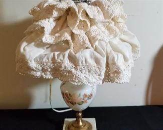 Vintage Hurricane Electric Lamp & Shade